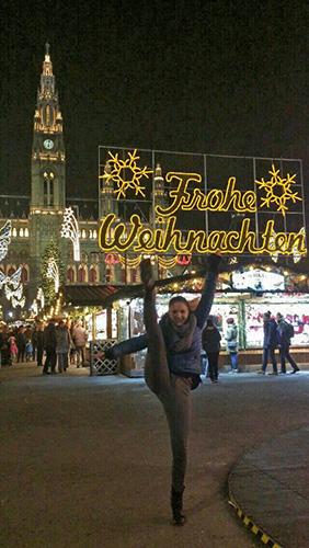 Weihnachtsmarkt-Tanzfoto Kati